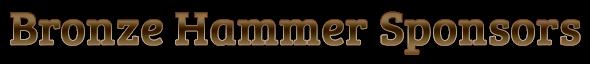 Bronze Hammer Sponsors